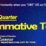 First Quarter Summative Tests p