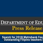 Search for 2018 Metrobank Foundation Outstanding Filipino Teachers